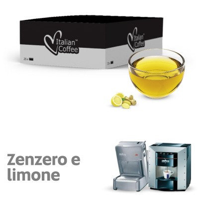 25 ginger and lemon herbal tea capsules compatible with espresso point