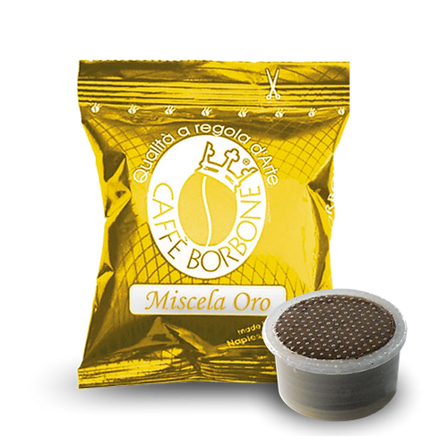 50 Bourbon gold capsules compatible ESPRESSO POINT [0,18 € / capsule]