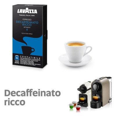 100 Nespresso compatible Lavazza decaffeinated coffee capsules [€ 0.16 / capsule]