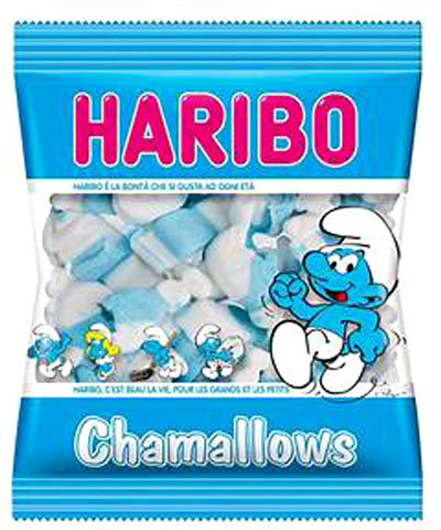 BAGS 100g SMURFS MALLOW HARIBO