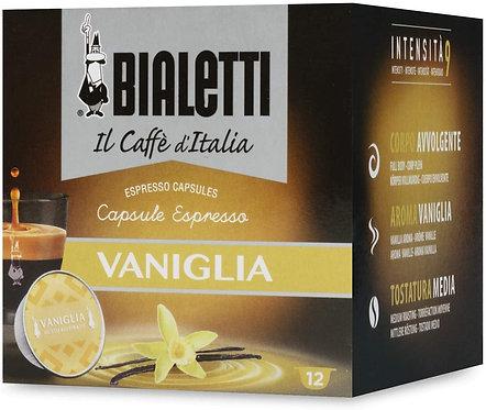 "12 coffee capsules Bialetti ""Gourmet"" Vanilla taste [0,33 € / capsule]"
