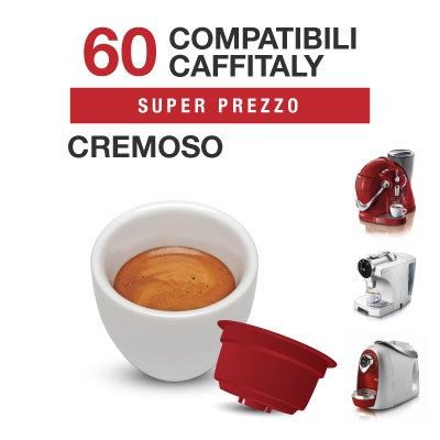 60 CAFFITALY compatible creamy coffee capsules [€ 0.16 / caspula]]