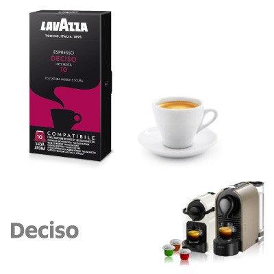 10 Lavazza Deciso coffee capsules compatible with NESPRESSO [€ 0.16 / capsule]