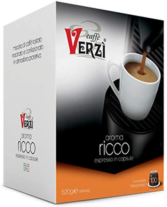 Caffè Verzì 100 capsule RICCO compatibili NESPRESSO