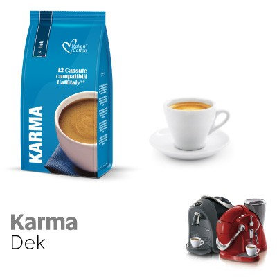 96 Karma decaffeinated coffee capsules compatible CAFFITALY [€ 0.17 / capsule]