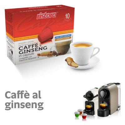 60 Nespresso compatible Ginseng coffee capsules [€ 0.15 / capsule]