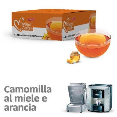 25 capsule camomilla miele e arancia compatibili espresso point