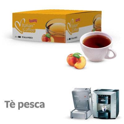 25 capsule tè pesca compatibili espresso point