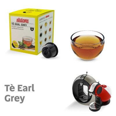 10 Earl Gray compatible Ristora tea capsules DOLCE GUSTO [0,28 € / capsule]