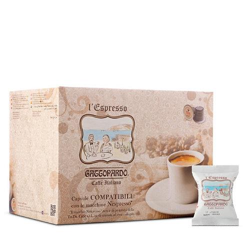 100 Gattopardo Blue Coffee Kapseln kompatibel mit NESPRESSO [0,15 € / Kapsel]