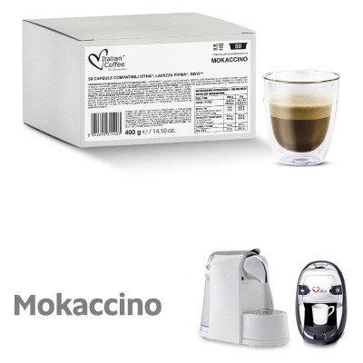 50 Italian Coffee compatible mokaccino capsules Signature