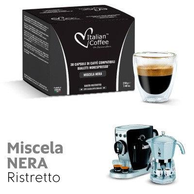 30 schwarze Mokespresso-kompatible BIALETTI-Kapseln [0,17 € / Kapsel]