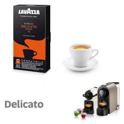 10 Lavazza DELICATO coffee capsules compatible with NESPRESSO [€ 0.16 / capsule]