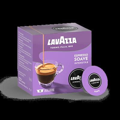 16 Lavazza Soave kompatible Kaffeekapseln A MODO MIO [0,21 € / Kapsel]