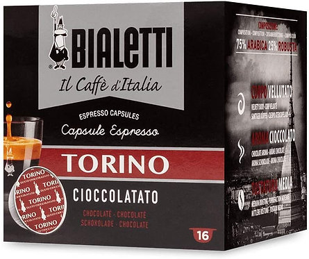 16 capsules Bialetti coffee from Italy Turin (Chocolate flavor) [0,28 € per capsule]