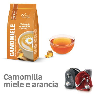 96 capsules chamomile honey and orange compatible CAFFITALY [€ 0.17 / capsule]