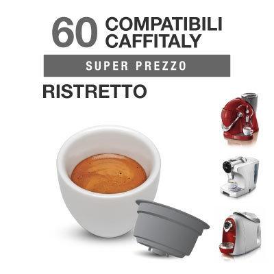 60 capsules Caffè Ristretto compatibles avec Caffitaly