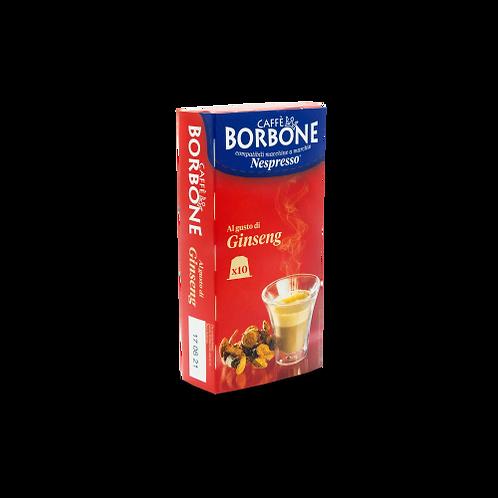 60 NESPRESSO compatible BORBONE ginseng coffee capsules [€ 0.18 / capsule]