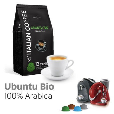 96 compatible coffee capsules Ubuntu blend CAFFITALY [€ 0.17 / capsule]