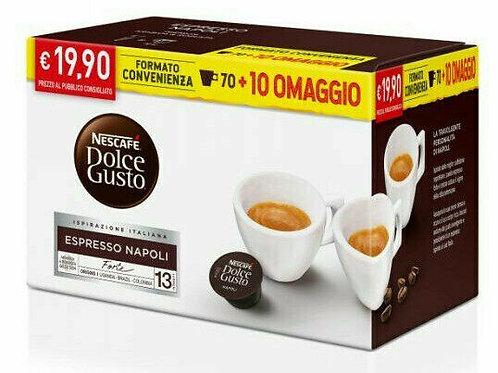 80 Nescafè Napoli capsules compatible DOLCE GUSTO [0,24 € / capsule]