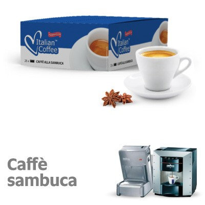25 Sambuca coffee capsules compatible with espresso point