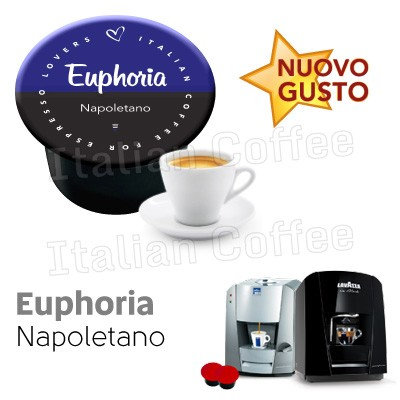 50 caps Neapolitan coffee Euphoria compat LAVAZZA BLUE AND BLACK [0,13 € / capsule]