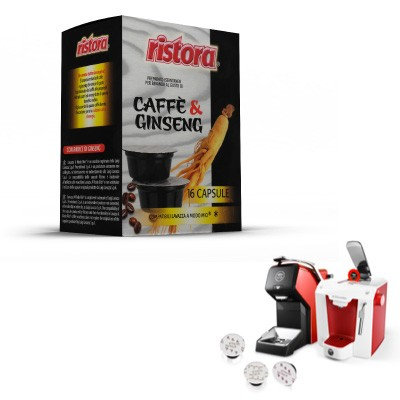 32 Ristora compatible ginseng coffee capsules LAVAZZA MY WAY [€ 0.15 / capsule]