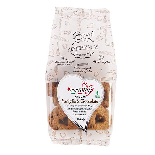ARTEBIANCA ARTISAN BISCUITS 300 GR GOURMET VANILLA AND CHOCOLATE