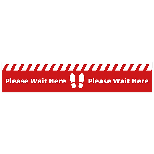Please Wait Here Floor Sticker  (PACK OF 10)