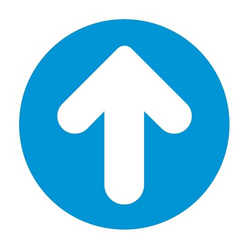 Arrow Circle Floor Sticker  (PACK OF 10)