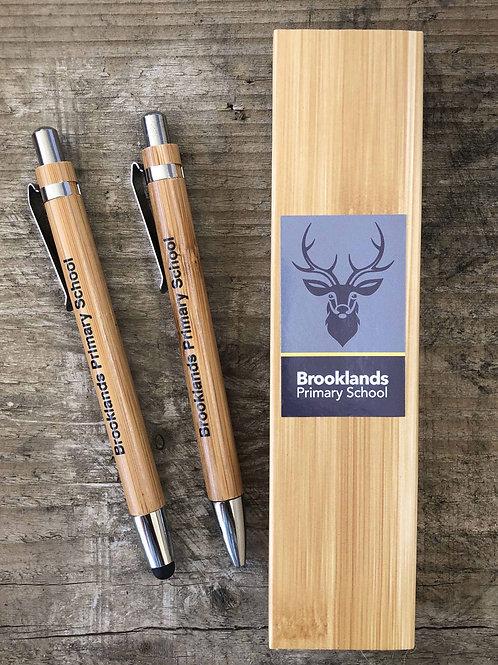 ECO School Leavers Bamboo Pen Set