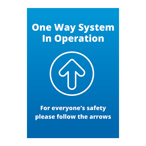 'One Way System In Operation' Signage