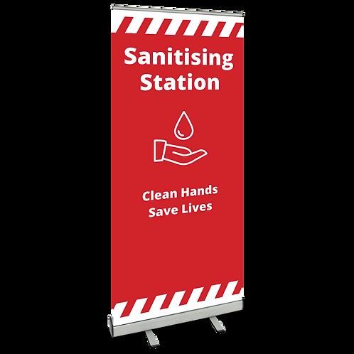 'Sanitising Station' Roller Banner