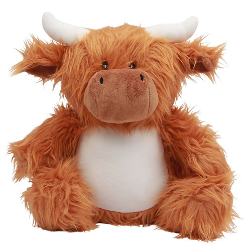 Personalised Embroidered Highland Cow