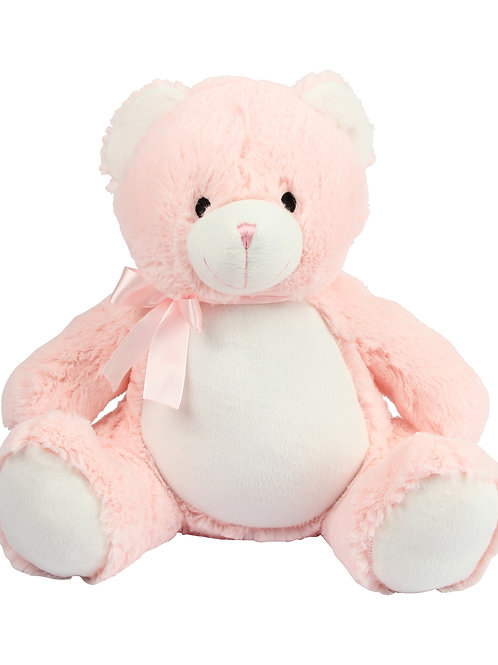 Personalised Embroidered New Baby Pink bear