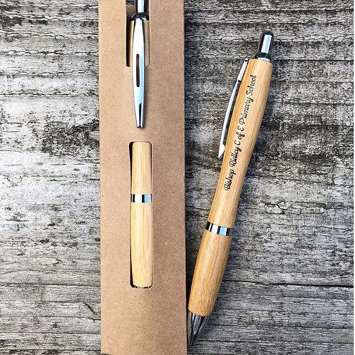 School Eco Bamboo Gift Pen