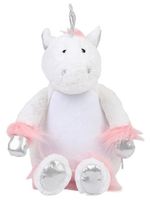 Personalised Embroidered white Unicorn