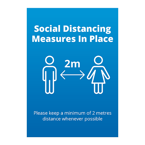 'Social Distancing' Signage