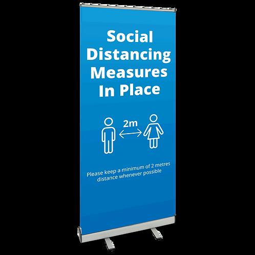 'Social Distancing' Roller Banner