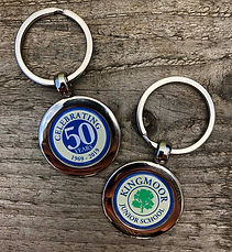 School Leavers double sided keyring with gift box