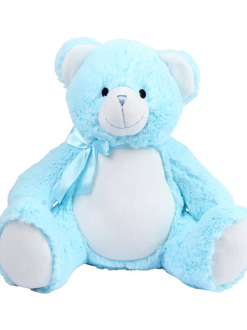 Personalised Embroidered New Baby blue bear