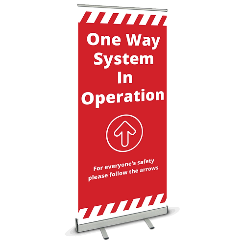 'One Way System' Roller Banner