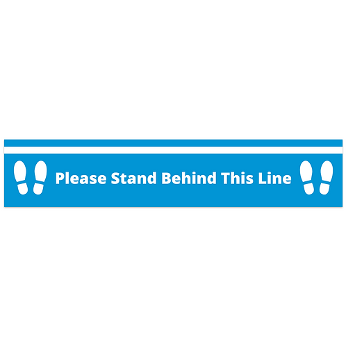 'Behind This Line' Floor Sticker  (PACK OF 10)