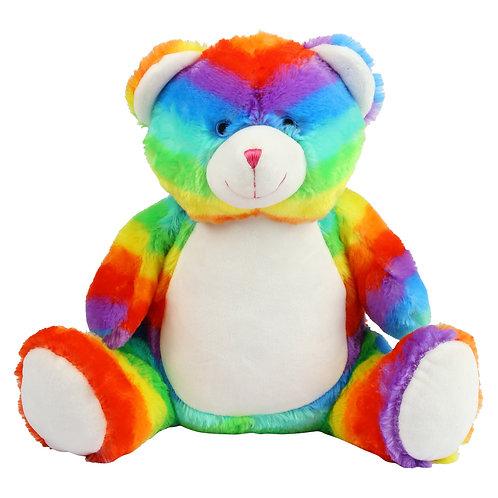 Personalised Embroidered Rainbow Bear