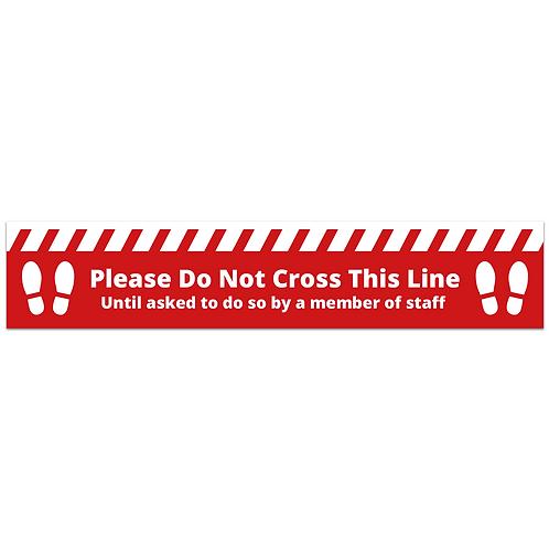 'Do Not Cross' Floor Sticker (PACK OF 10)