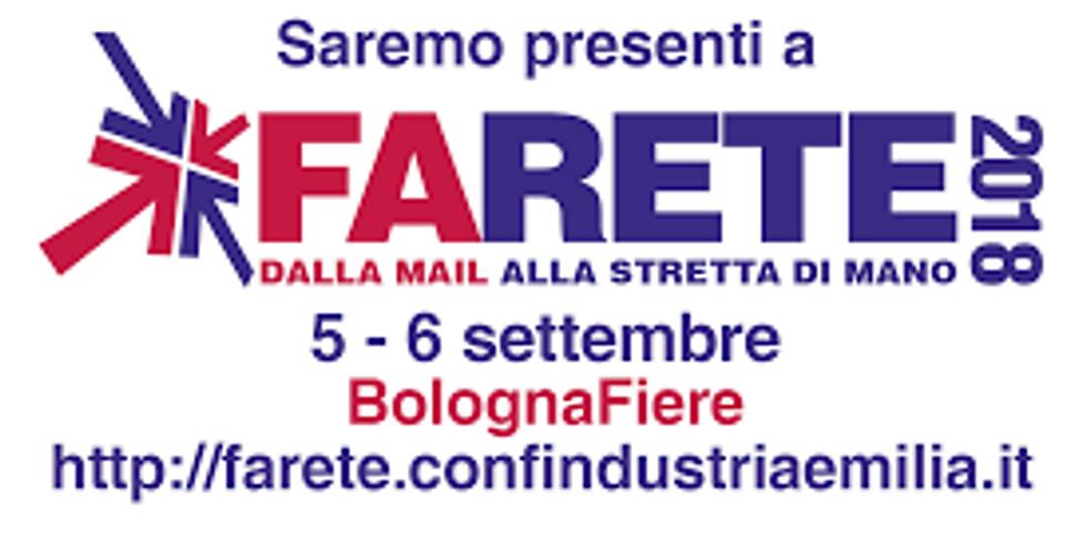 FIERA INTERNAZIONALE - FARETE- BOLOGNA 05-06 SETTEMBRE 2018