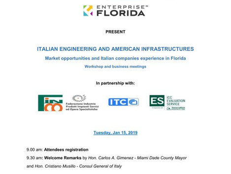 ITALIAN ENGINEERING AND AMERICAN INFRASTRUCTURES