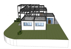 03 Carpenteria metallica vista laterale giardino
