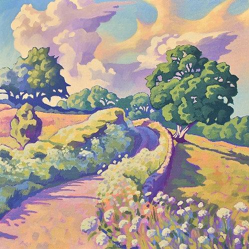 Guy Warner Artist Winding Lane Cotswolds