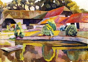 Barns and Pond, Charleston (1918) Roger Fry English artist